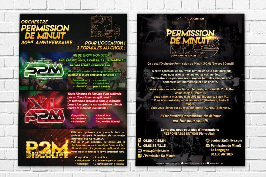 Creation graphique et impression Affiche A4 recto verso Artem Communication